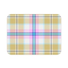Pink And Yellow Plaid Double Sided Flano Blanket (mini)  by allthingseveryone