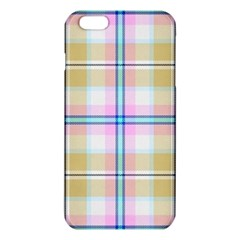 Pink And Yellow Plaid Iphone 6 Plus/6s Plus Tpu Case by allthingseveryone