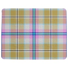 Pink And Yellow Plaid Jigsaw Puzzle Photo Stand (rectangular) by allthingseveryone
