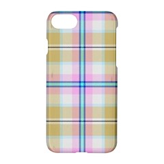 Pink And Yellow Plaid Apple Iphone 8 Hardshell Case
