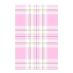 Pink Pastel Plaid Shower Curtain 48  X 72  (small)  by allthingseveryone