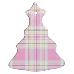 Pink Pastel Plaid Ornament (christmas Tree)  by allthingseveryone
