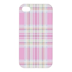 Pink Pastel Plaid Apple Iphone 4/4s Premium Hardshell Case by allthingseveryone
