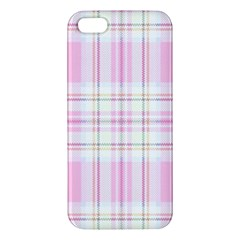Pink Pastel Plaid Iphone 5s/ Se Premium Hardshell Case