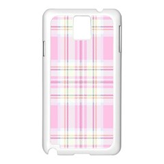 Pink Pastel Plaid Samsung Galaxy Note 3 N9005 Case (white) by allthingseveryone