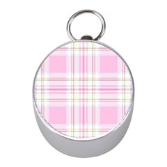Pink Pastel Plaid Mini Silver Compasses by allthingseveryone
