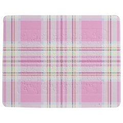 Pink Pastel Plaid Jigsaw Puzzle Photo Stand (rectangular) by allthingseveryone