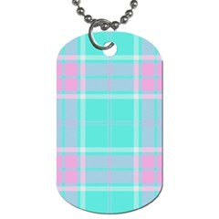 Blue And Pink Pastel Plaid Dog Tag (two Sides) by allthingseveryone