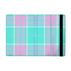 Blue And Pink Pastel Plaid Apple Ipad Mini Flip Case by allthingseveryone