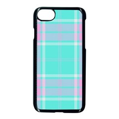 Blue And Pink Pastel Plaid Apple Iphone 8 Seamless Case (black) by allthingseveryone