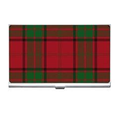 Red And Green Tartan Plaid Business Card Holders by allthingseveryone