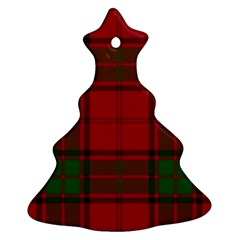 Red And Green Tartan Plaid Ornament (christmas Tree)  by allthingseveryone