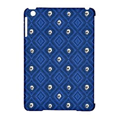 Funny Little Skull Pattern, Blue Apple Ipad Mini Hardshell Case (compatible With Smart Cover) by MoreColorsinLife