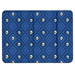 Funny Little Skull Pattern, Blue Samsung Galaxy Tab 7  P1000 Flip Case by MoreColorsinLife
