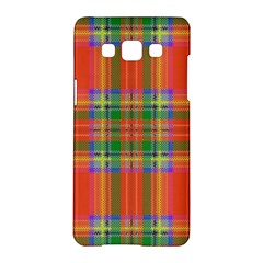 Orange And Green Plaid Samsung Galaxy A5 Hardshell Case  by allthingseveryone