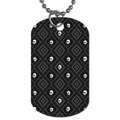 Funny Little Skull Pattern, B&w Dog Tag (two Sides) by MoreColorsinLife