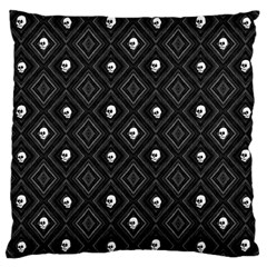 Funny Little Skull Pattern, B&w Large Cushion Case (one Side) by MoreColorsinLife