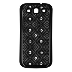 Funny Little Skull Pattern, B&w Samsung Galaxy S3 Back Case (black) by MoreColorsinLife