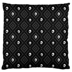 Funny Little Skull Pattern, B&w Standard Flano Cushion Case (two Sides) by MoreColorsinLife