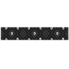 Funny Little Skull Pattern, B&w Large Flano Scarf  by MoreColorsinLife