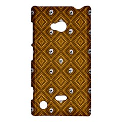 Funny Little Skull Pattern, Golden Nokia Lumia 720 by MoreColorsinLife