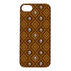 Funny Little Skull Pattern, Golden Apple Iphone 5s/ Se Hardshell Case by MoreColorsinLife