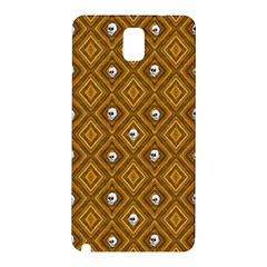 Funny Little Skull Pattern, Golden Samsung Galaxy Note 3 N9005 Hardshell Back Case by MoreColorsinLife