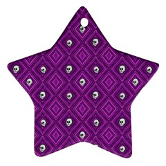 Funny Little Skull Pattern, Purple Ornament (star) by MoreColorsinLife