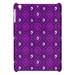 Funny Little Skull Pattern, Purple Apple Ipad Mini Hardshell Case by MoreColorsinLife