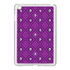 Funny Little Skull Pattern, Purple Apple Ipad Mini Case (white) by MoreColorsinLife