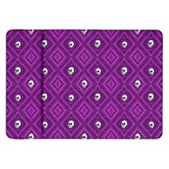 Funny Little Skull Pattern, Purple Samsung Galaxy Tab 8 9  P7300 Flip Case by MoreColorsinLife