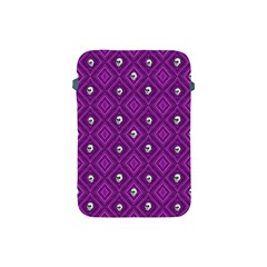 Funny Little Skull Pattern, Purple Apple Ipad Mini Protective Soft Cases by MoreColorsinLife
