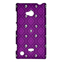 Funny Little Skull Pattern, Purple Nokia Lumia 720 by MoreColorsinLife