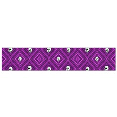 Funny Little Skull Pattern, Purple Small Flano Scarf by MoreColorsinLife