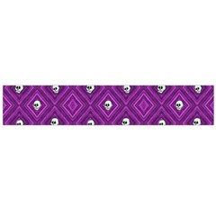 Funny Little Skull Pattern, Purple Large Flano Scarf  by MoreColorsinLife