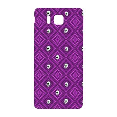 Funny Little Skull Pattern, Purple Samsung Galaxy Alpha Hardshell Back Case by MoreColorsinLife