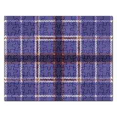 Purple Heather Plaid Rectangular Jigsaw Puzzl by allthingseveryone