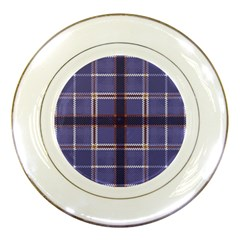 Purple Heather Plaid Porcelain Plates by allthingseveryone