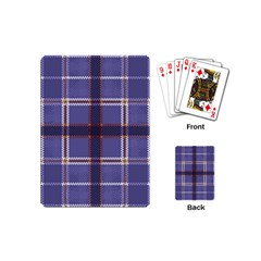 Purple Heather Plaid Playing Cards (mini)  by allthingseveryone