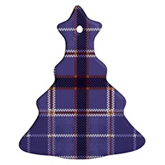 Purple Heather Plaid Christmas Tree Ornament (two Sides) by allthingseveryone