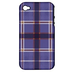 Purple Heather Plaid Apple Iphone 4/4s Hardshell Case (pc+silicone) by allthingseveryone