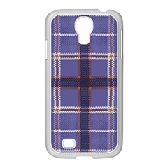 Purple Heather Plaid Samsung Galaxy S4 I9500/ I9505 Case (white) by allthingseveryone