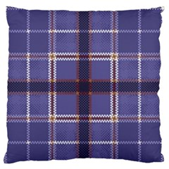 Purple Heather Plaid Large Flano Cushion Case (two Sides) by allthingseveryone