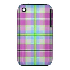 Pink And Blue Plaid Iphone 3s/3gs by allthingseveryone