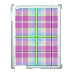 Pink And Blue Plaid Apple Ipad 3/4 Case (white) by allthingseveryone