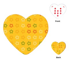 Spray Stars Pattern B Playing Cards (heart)