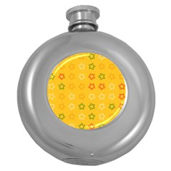 Spray Stars Pattern B Round Hip Flask (5 Oz) by MoreColorsinLife