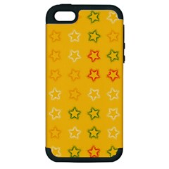 Spray Stars Pattern B Apple Iphone 5 Hardshell Case (pc+silicone) by MoreColorsinLife