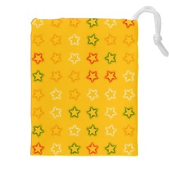 Spray Stars Pattern B Drawstring Pouches (xxl) by MoreColorsinLife