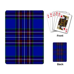 Bright Blue Plaid Playing Card by allthingseveryone